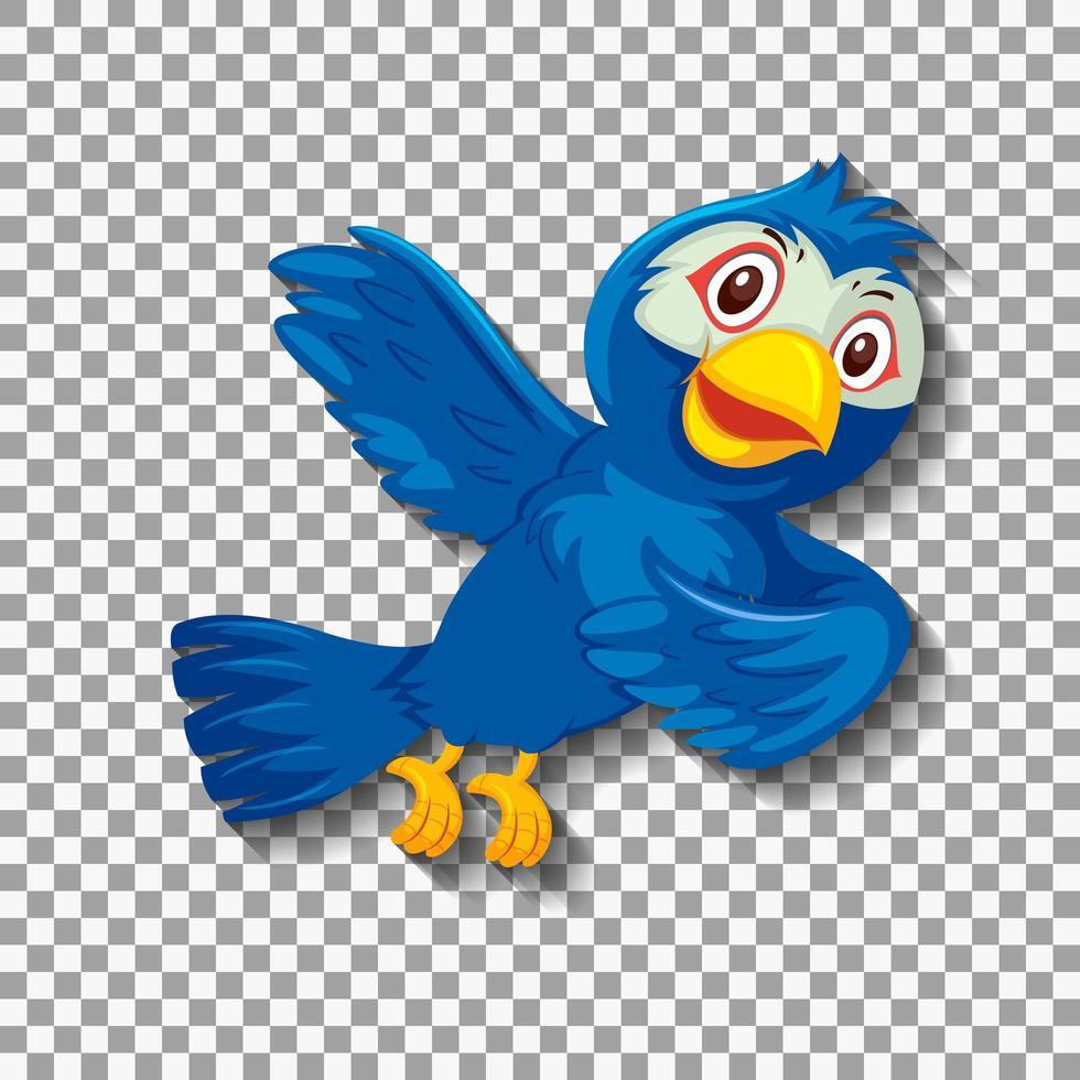 lindo personaje de pájaro azul vector