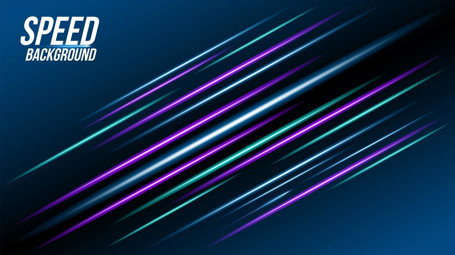 Fondo de tecnología abstracta con elementos azules y púrpuras. vector