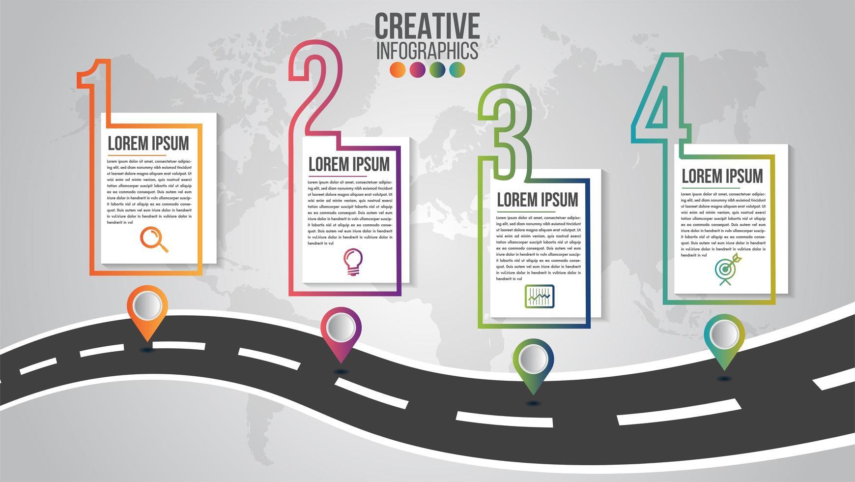 infografía, plantilla de línea de tiempo moderna para empresas vector