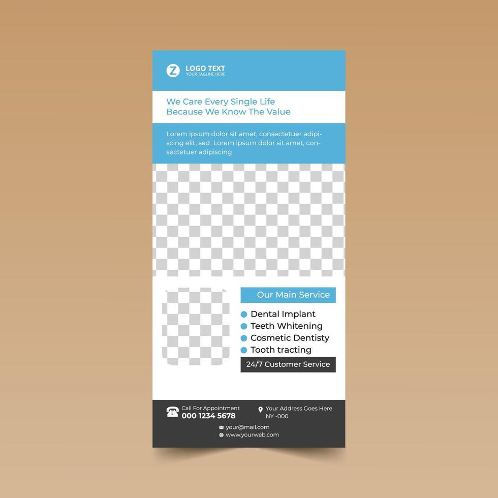 plantilla de diseño de tarjeta dental vector
