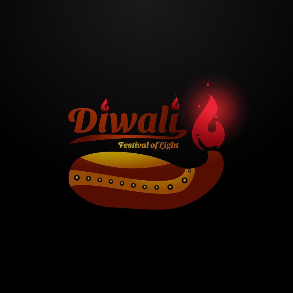 diseño de concepto de diwali vector