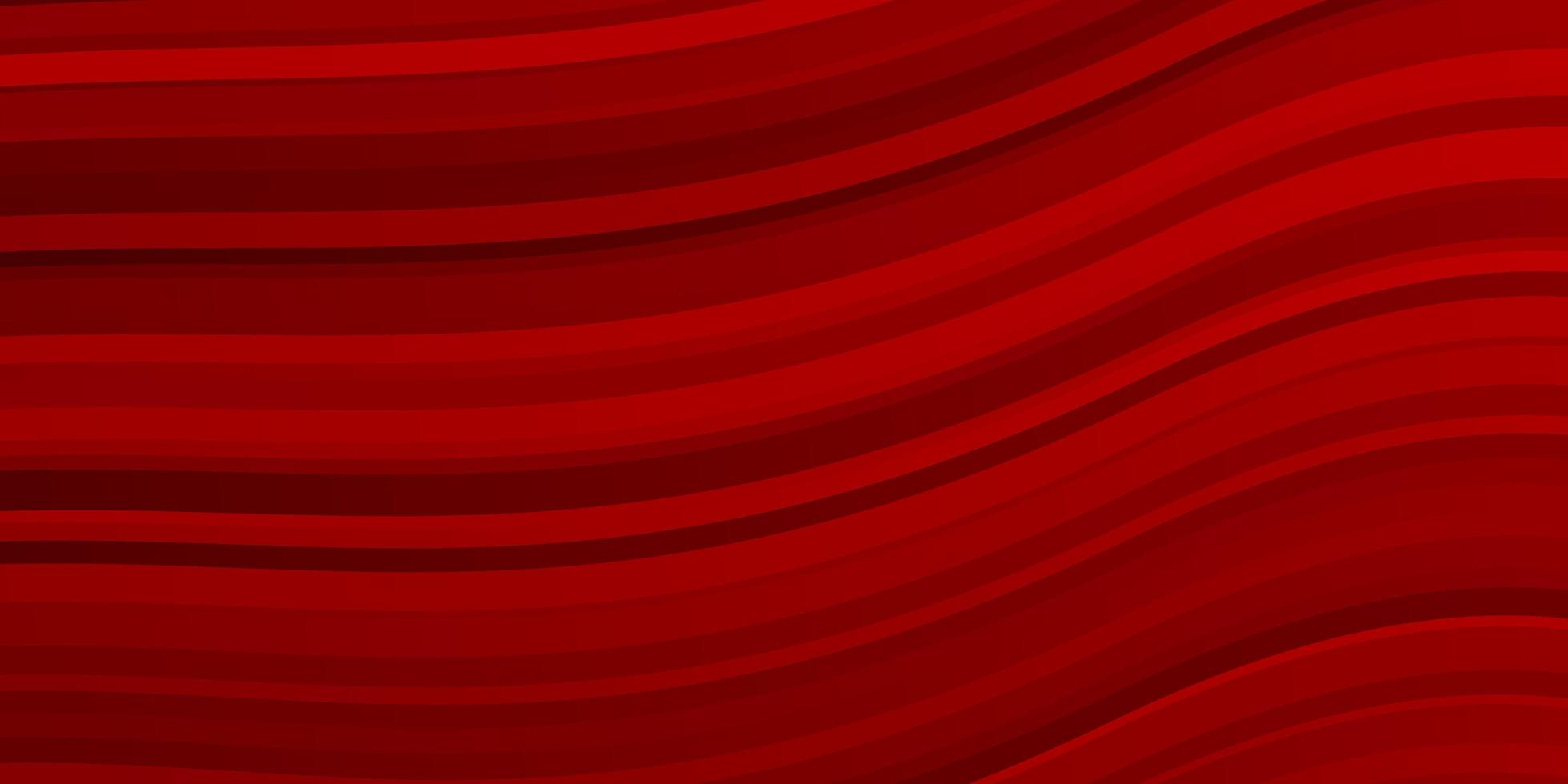 Dark red background with curved lines. vector