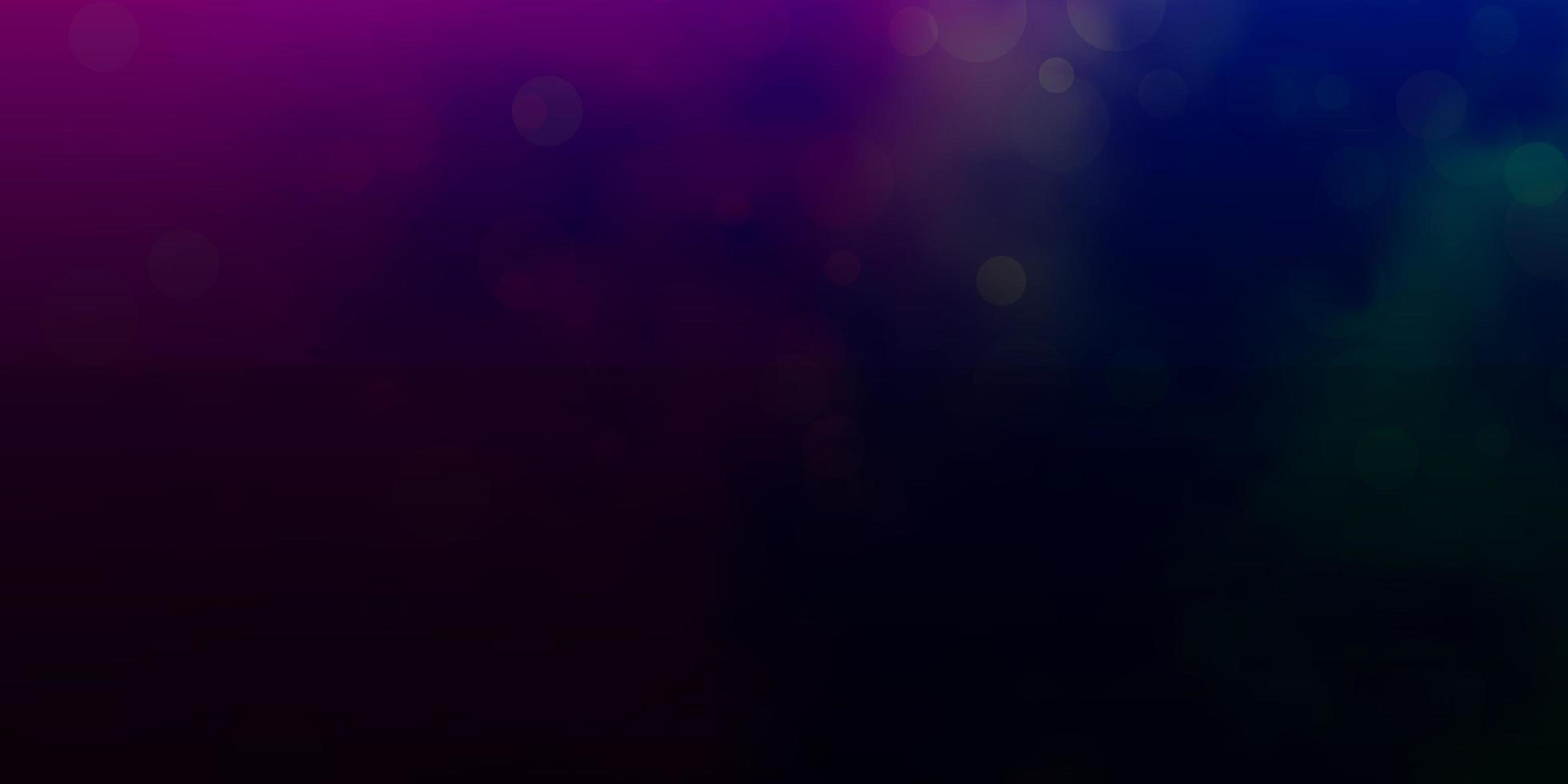 Dark pink and blue layout with circle shapes. vector