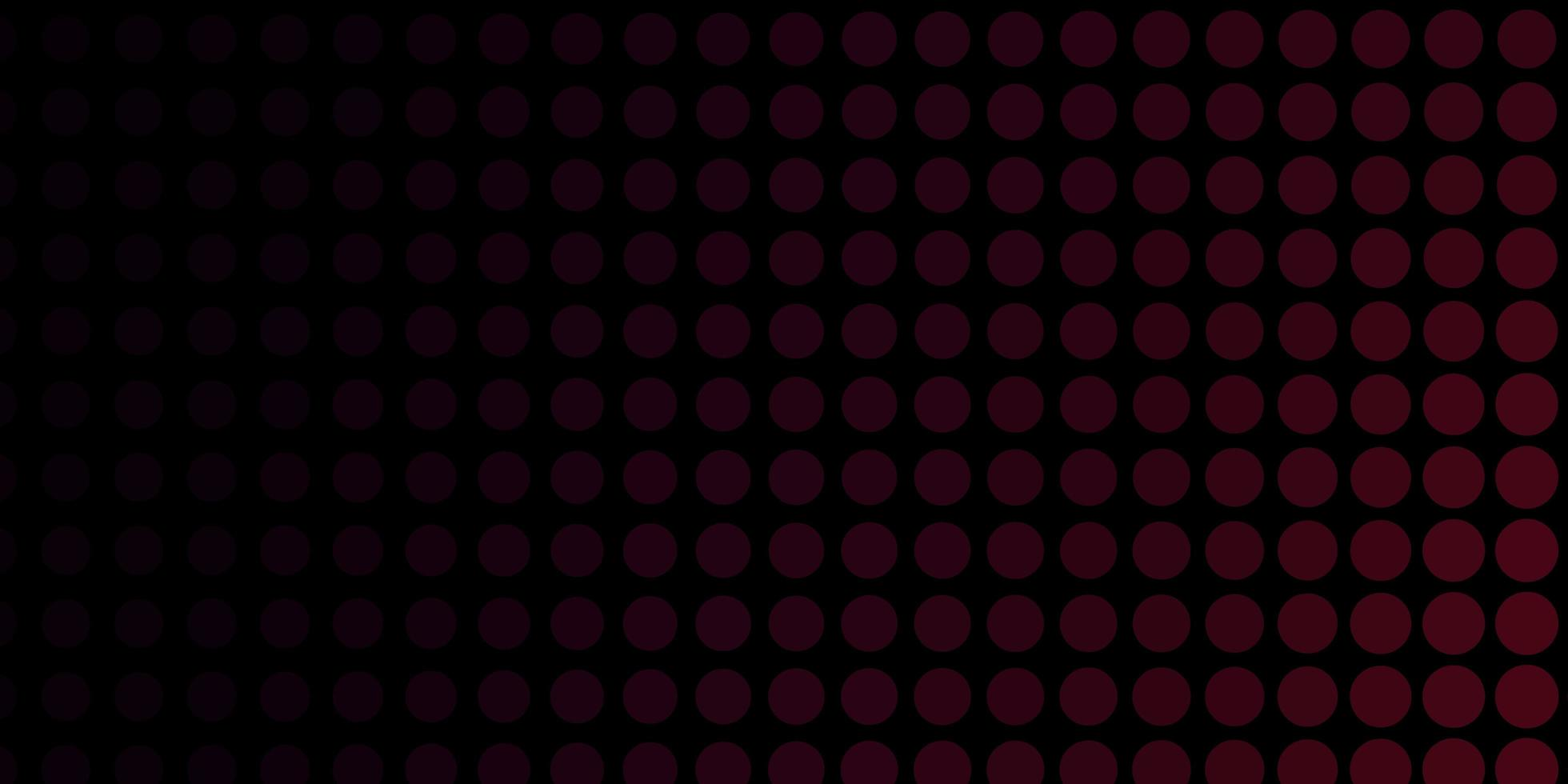 telón de fondo rojo oscuro con círculos. vector