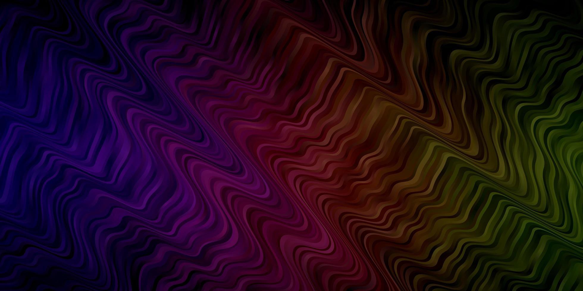 telón de fondo multicolor con líneas dobladas. vector