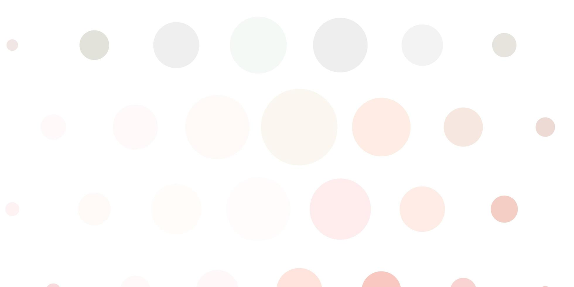 Light pink and green backdrop with dots. vector