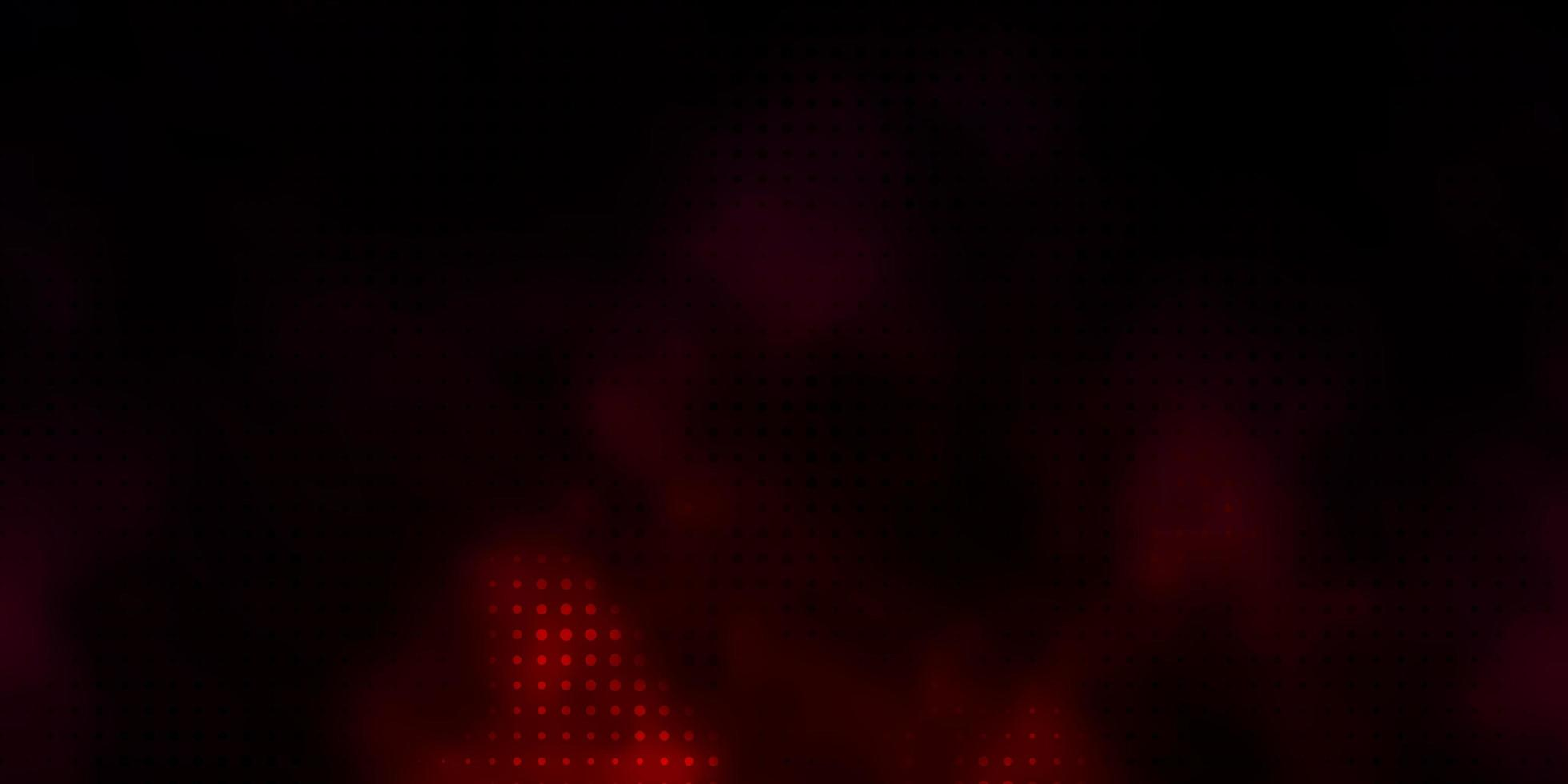 Red template with circles. vector