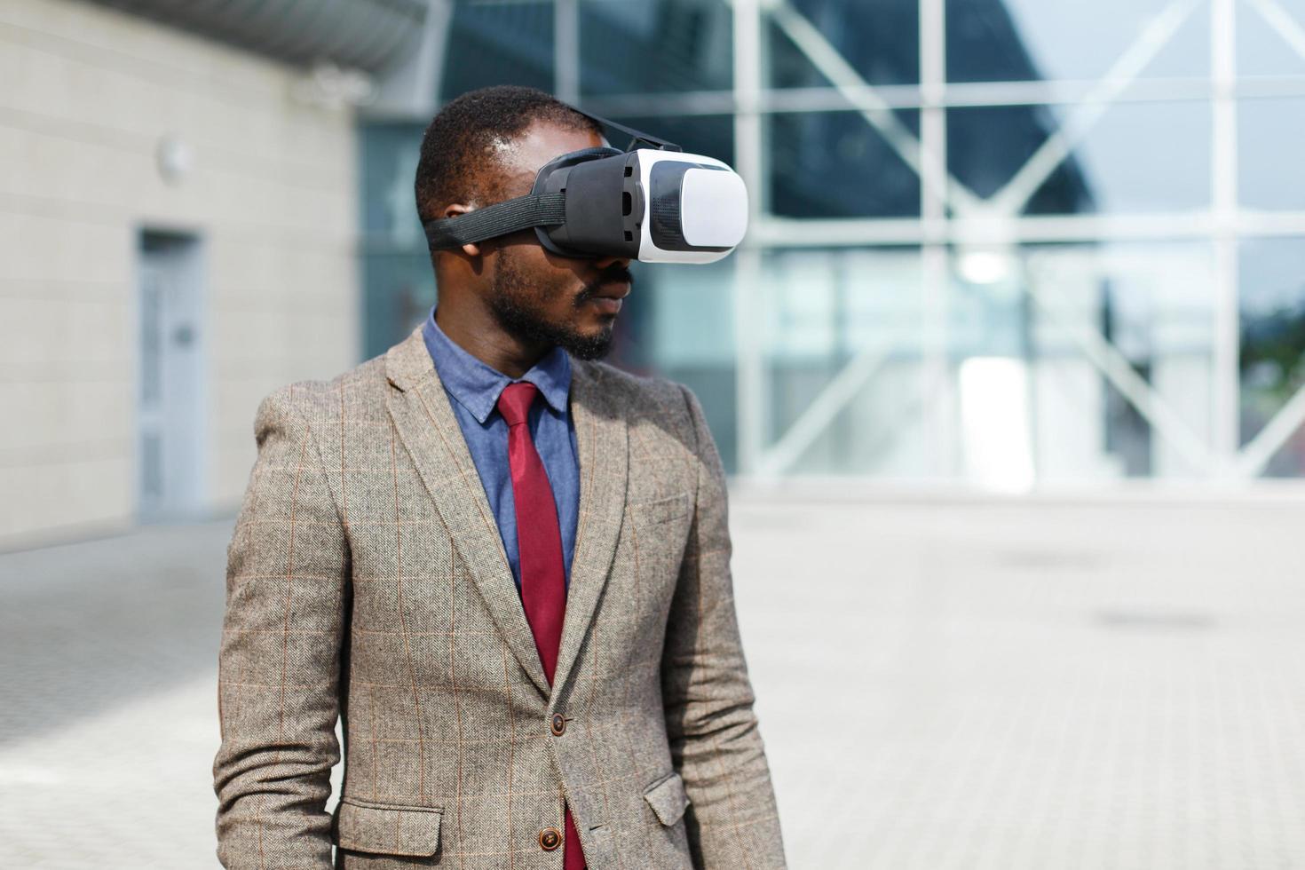 Man wearing VR glasses photo