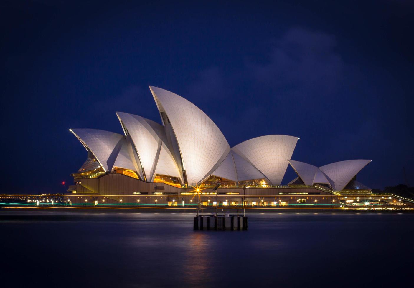 Sydney, Australia, 2020 - Sydney Opera House at night photo