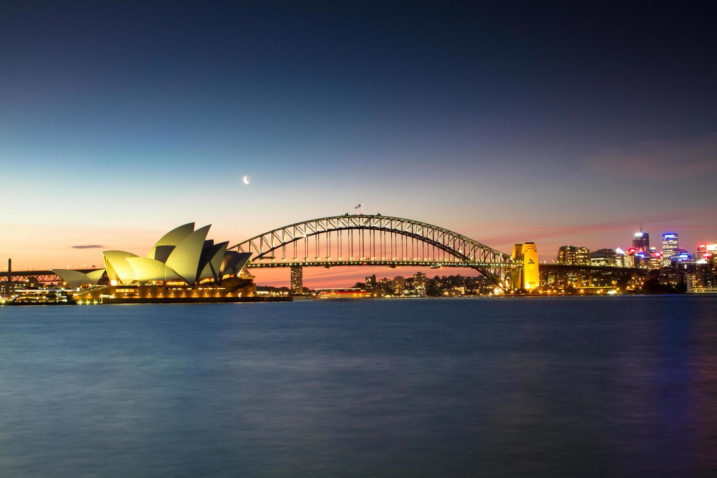 Sydney, Australia, 2020 - Sydney Opera House at sunset photo