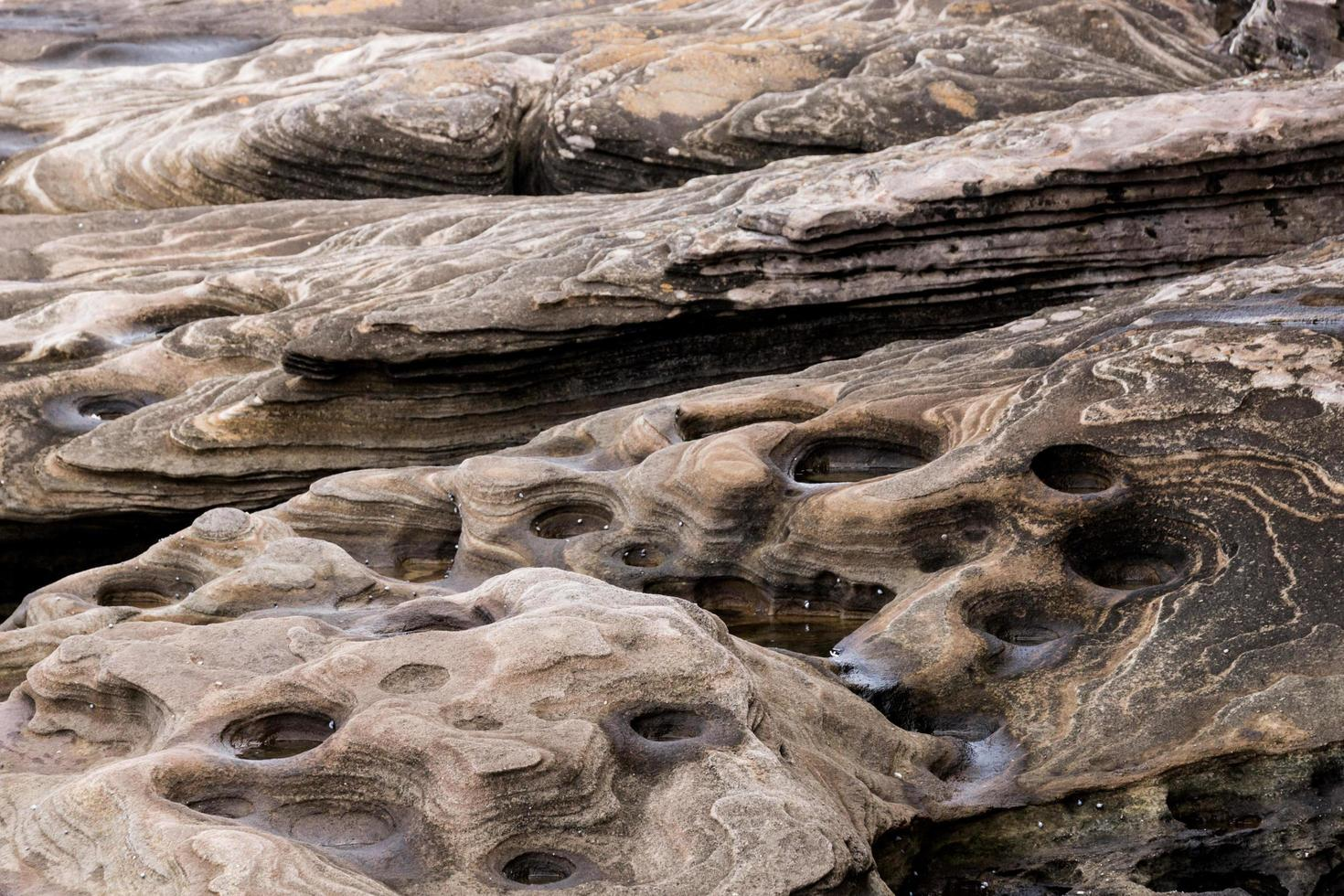 Rock formation during the day photo