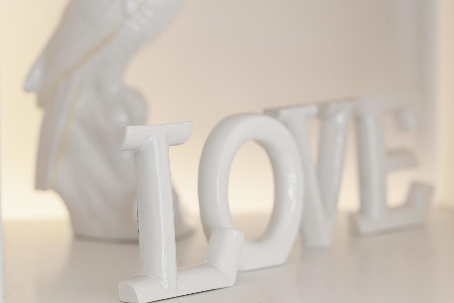 White table decor photo