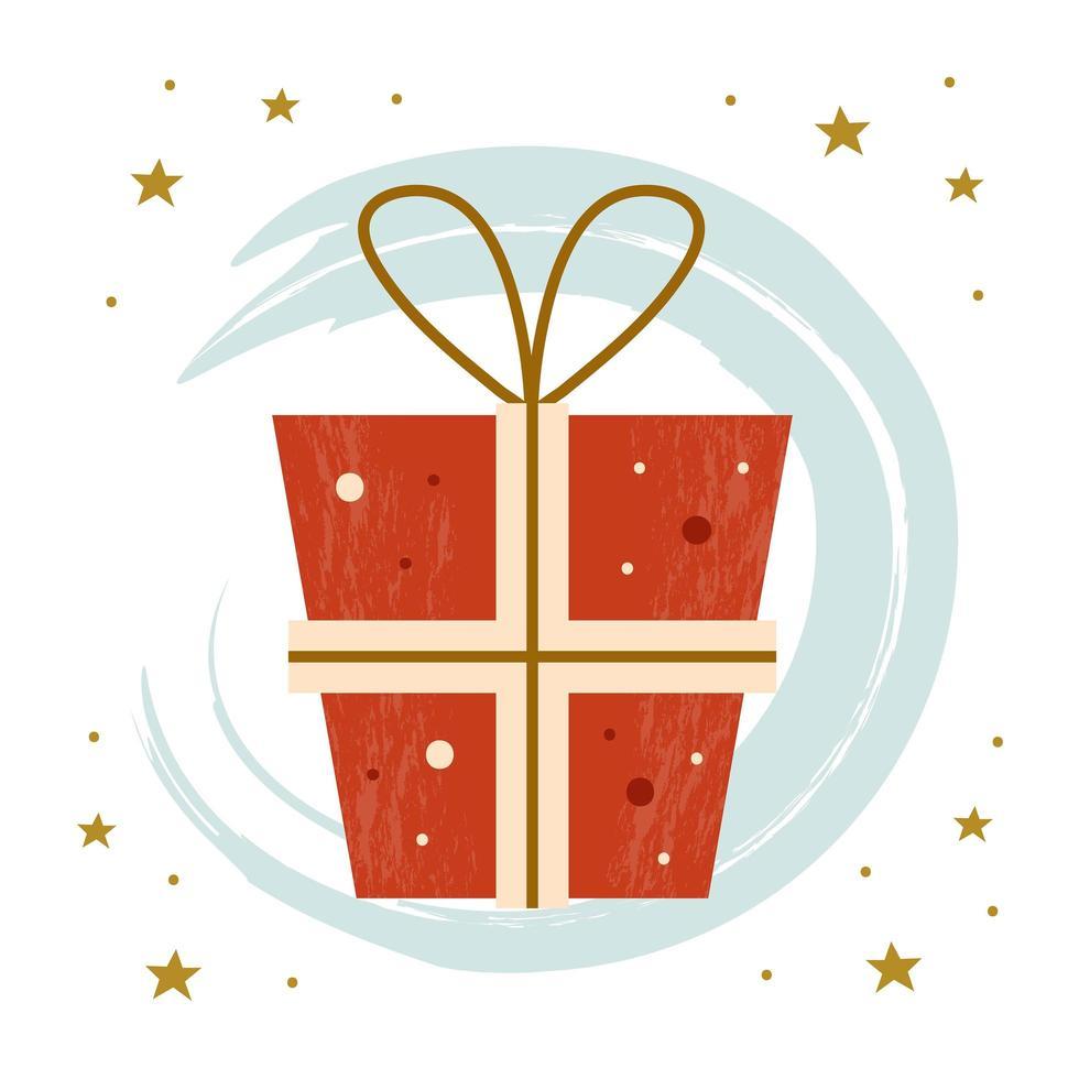 feliz navidad regalo vector