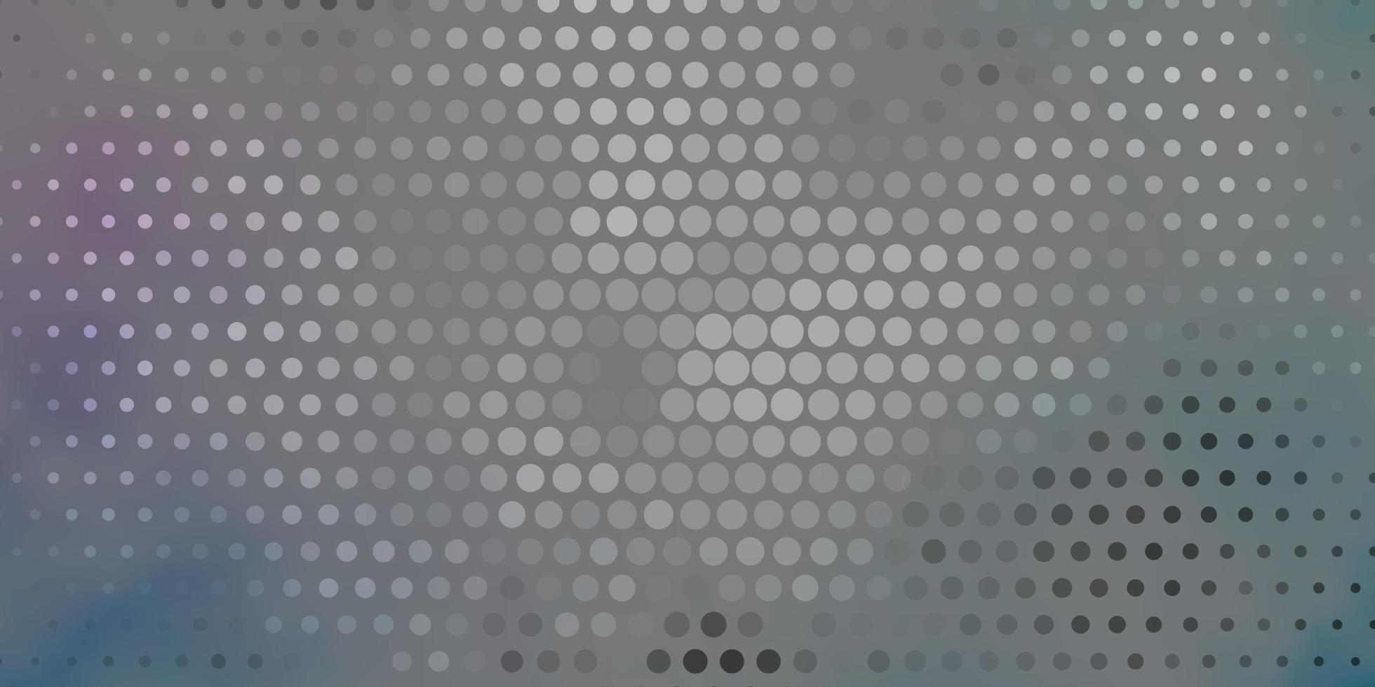 Grey, pink and blue pattern with circles. vector