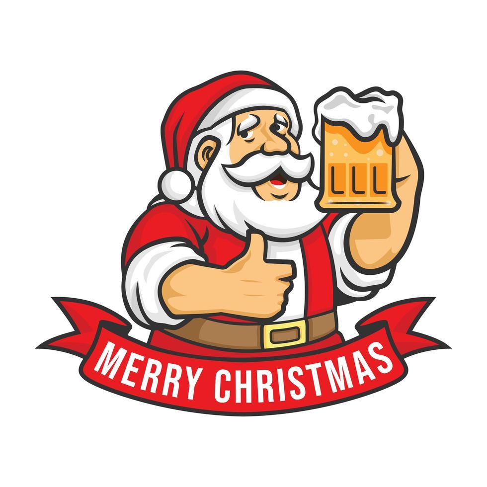 feliz navidad y próspero año nuevo santa vector
