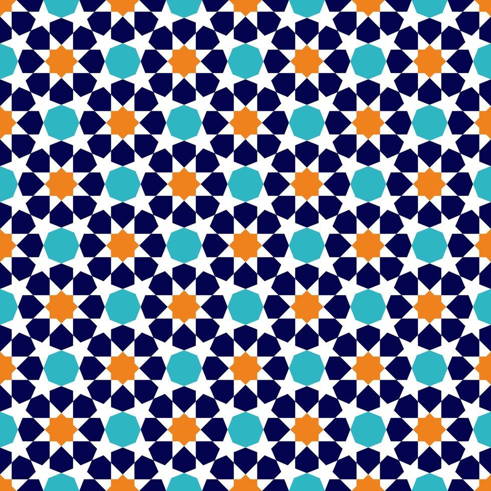 patrón de ornamento musulmán tradicional vector
