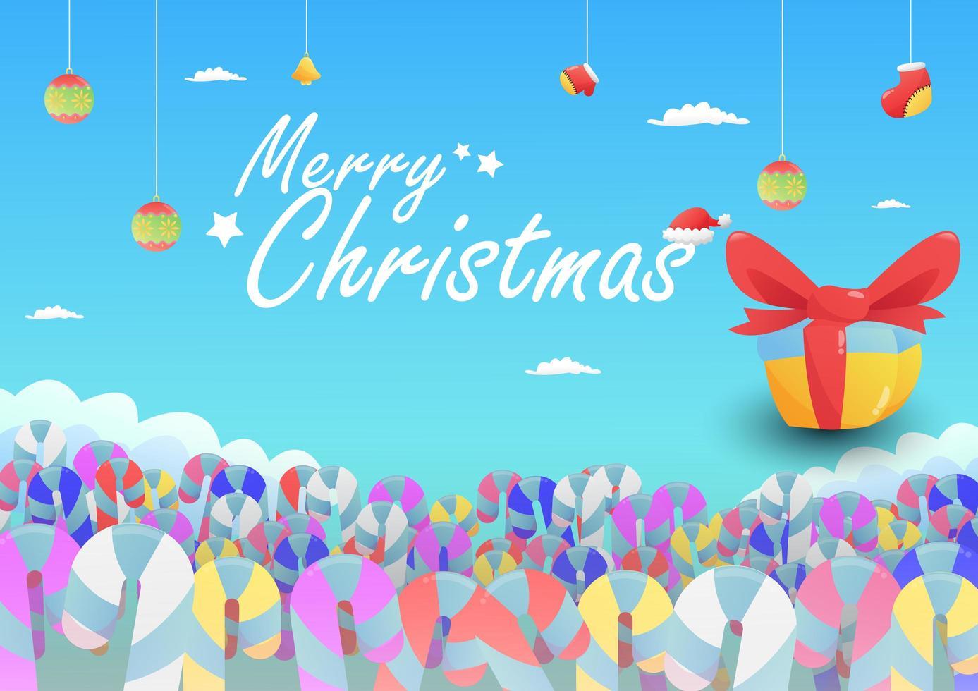 fondo de navidad con dulces - Descargar Vectores Gratis, Illustrator Graficos, Plantillas Diseño