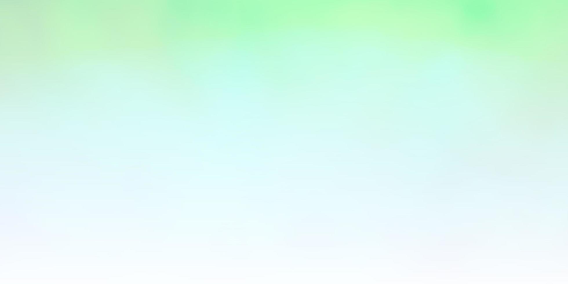plantilla verde claro con cielo, nubes. vector