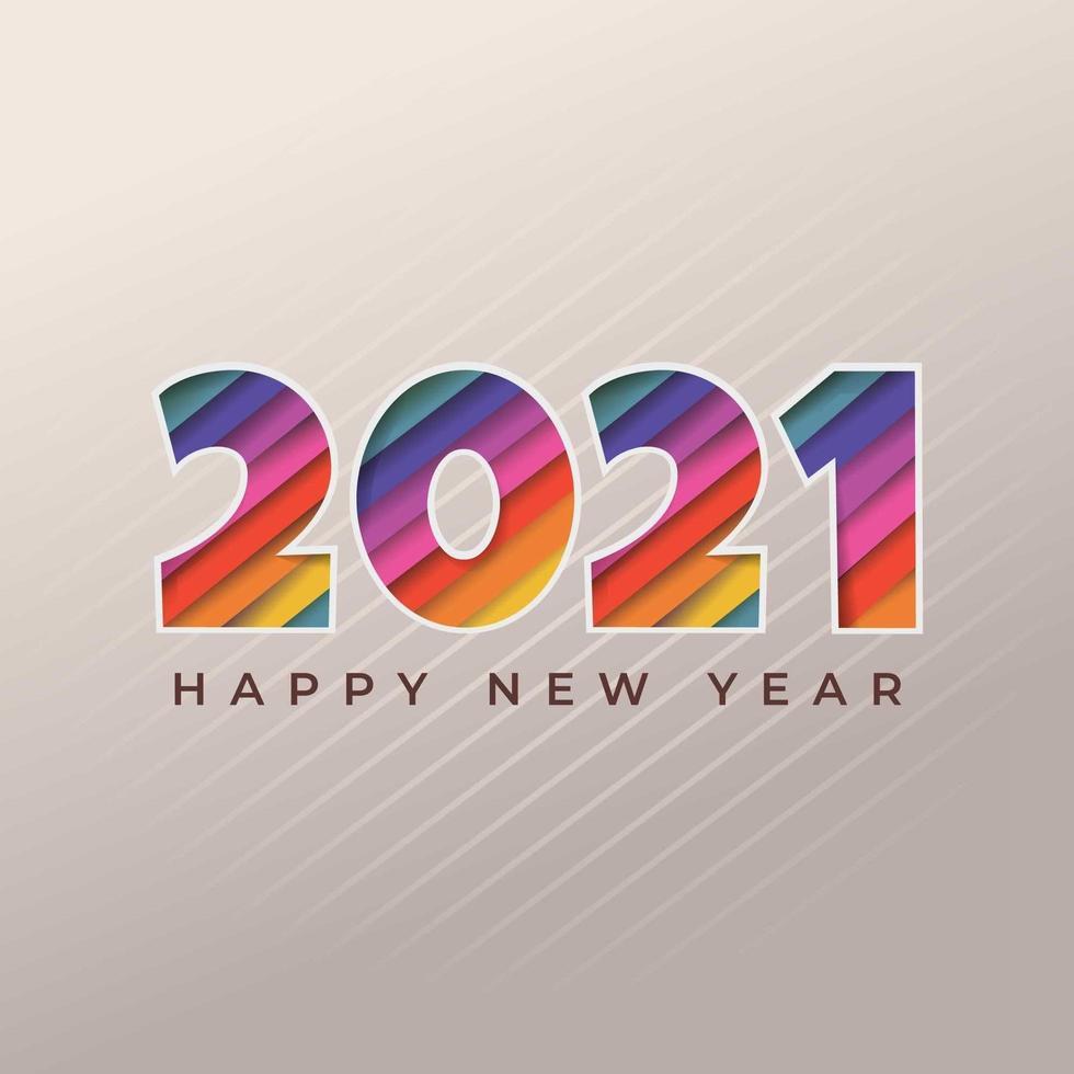 año nuevo 2021 recortar fondo vector