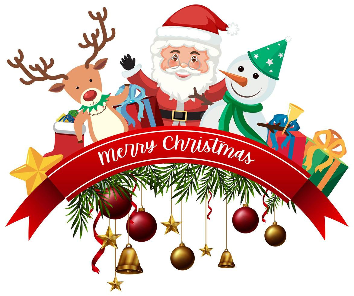 Isolated Merry Christmas Banner 1437187 Vector Art At Vecteezy