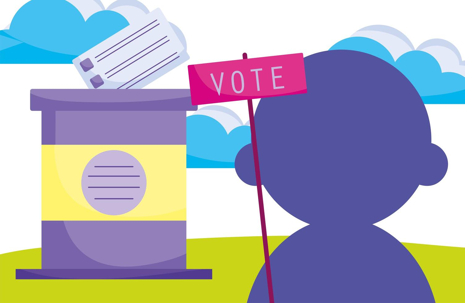 campaña política para las elecciones vector