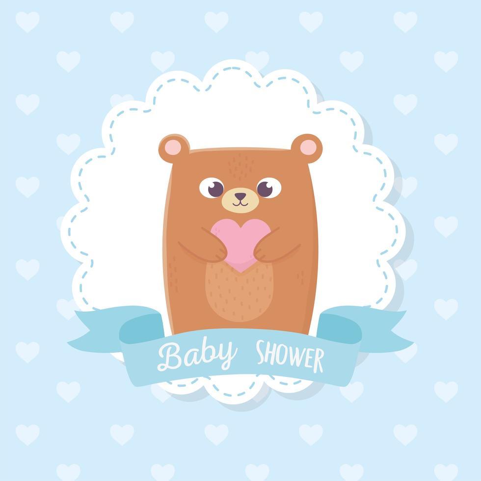 linda etiqueta de baby shower vector