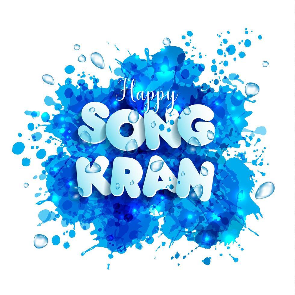 Letters songkran festival of Thailand vector