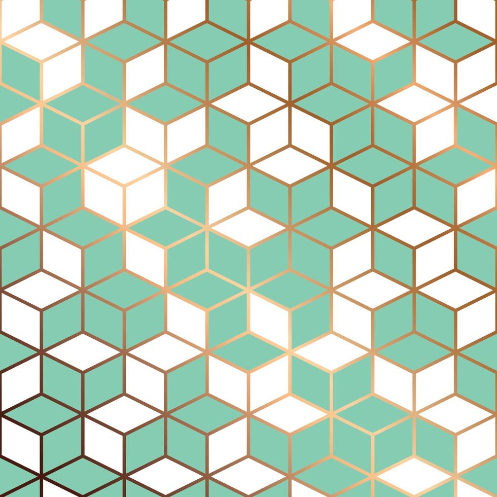 Seamless pattern design with golden geometric lines vector