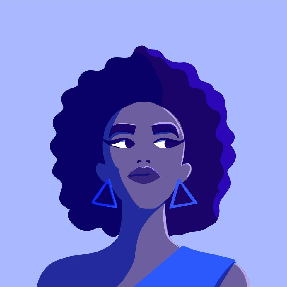 Portrait of a beautiful African American woman vector
