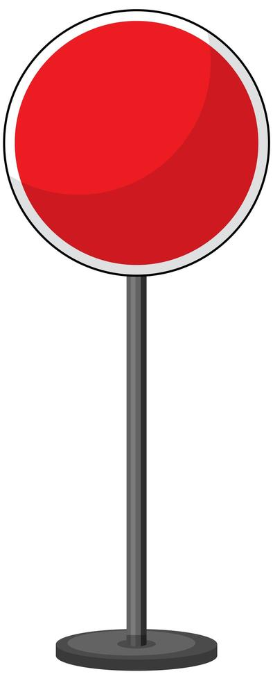 Red traffic sign on white background vector