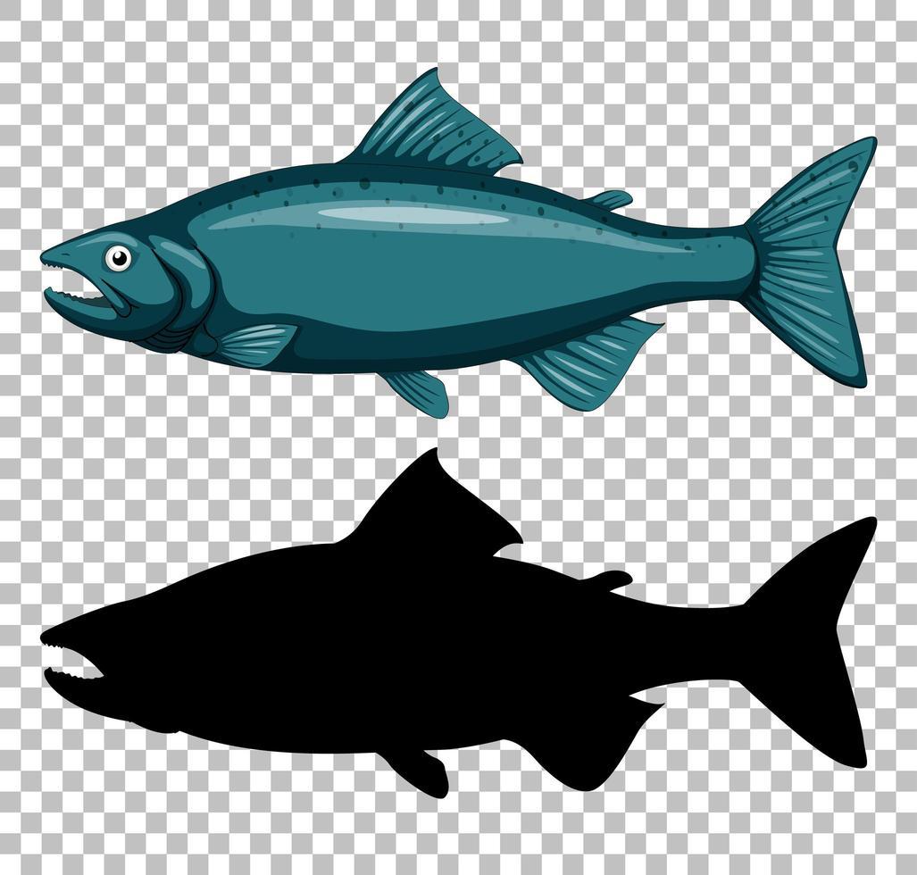 atún con silueta vector