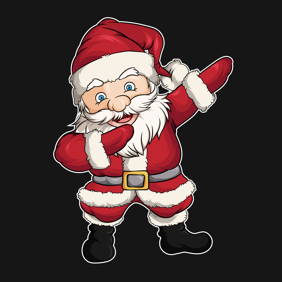 Dabbing Christmas Santa Claus vector