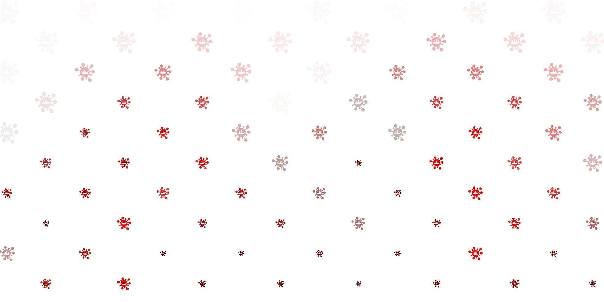 Red virus symbols on white backdrop vector