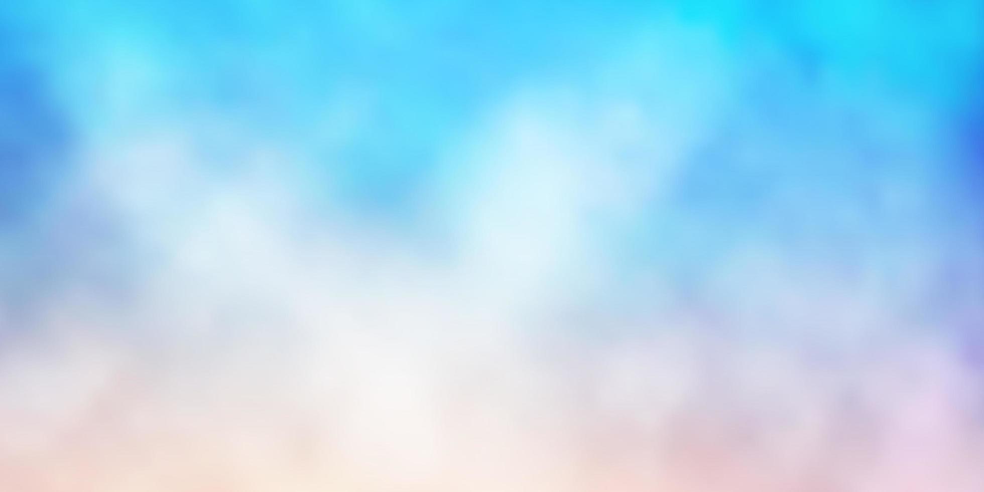 plantilla azul claro y rojo con cielo, nubes. vector