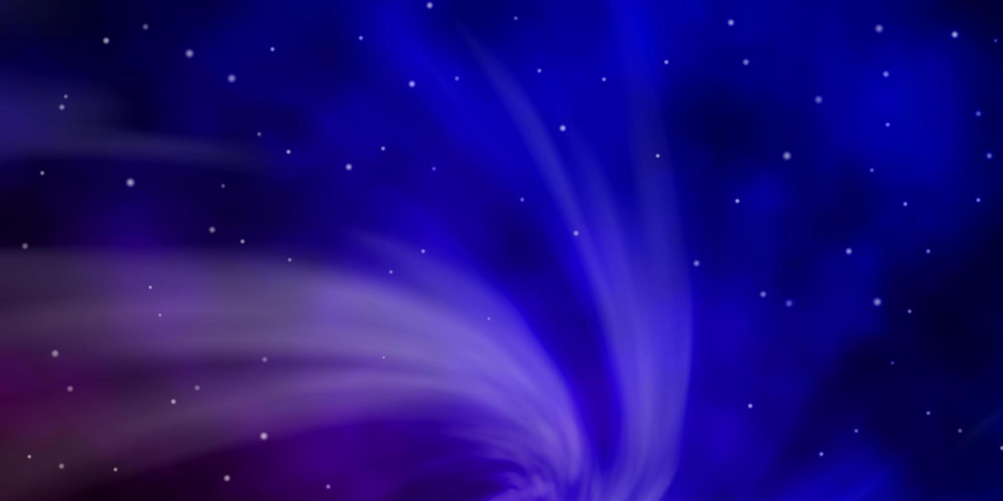 patrón azul oscuro y rojo con estrellas abstractas. vector