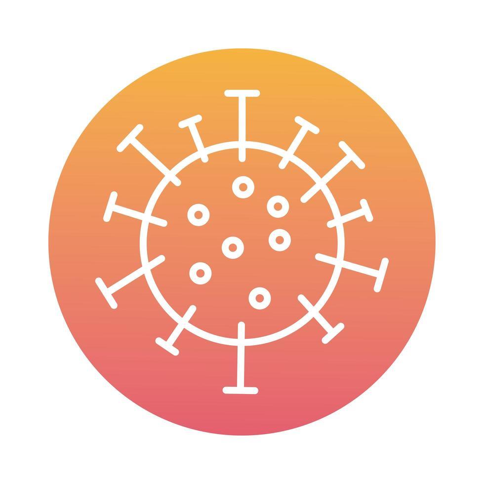 estilo de bloque de partículas de virus covid19 vector