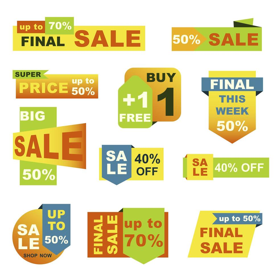 Big sale badges set vector