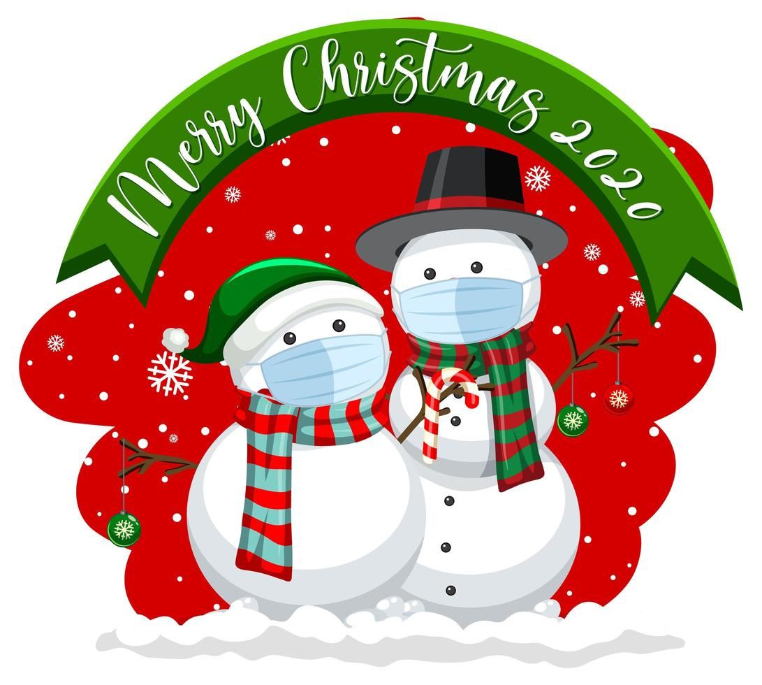 sjngmrzesskixm https es vecteezy com arte vectorial 1447163 feliz navidad 2020 banner con muneco de nieve enmascarado