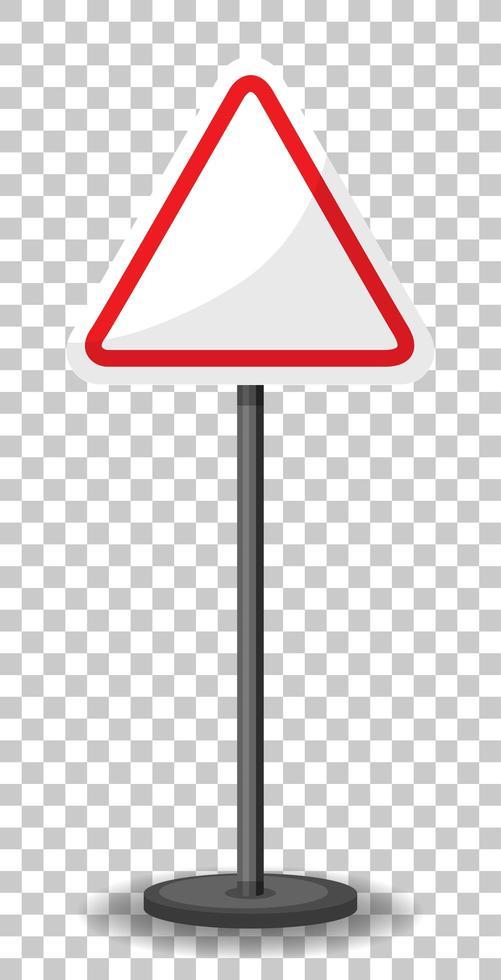 banner de tráfico triangular vacío vector