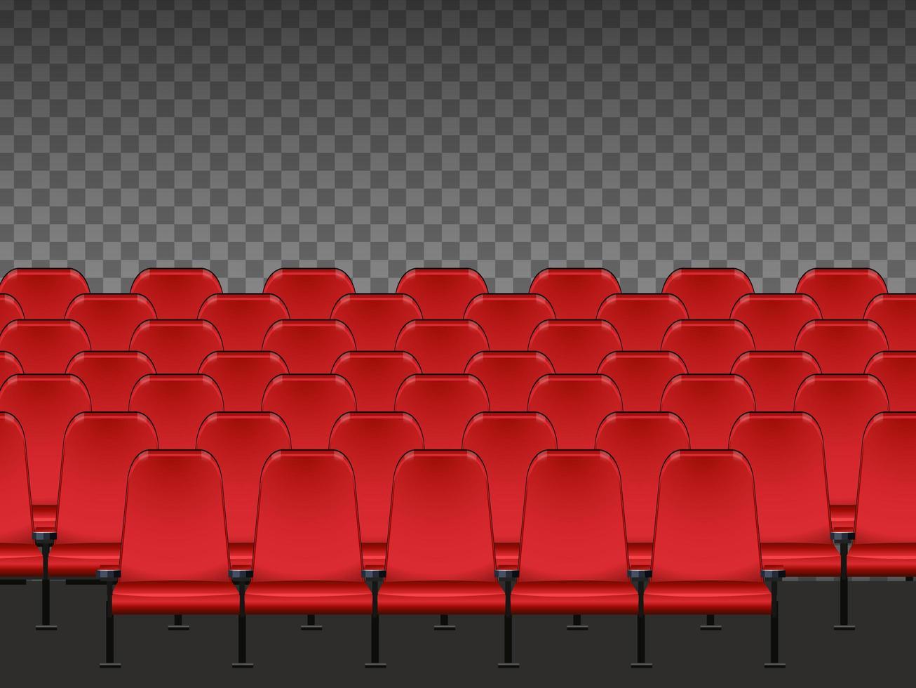asientos de cine rojo vector