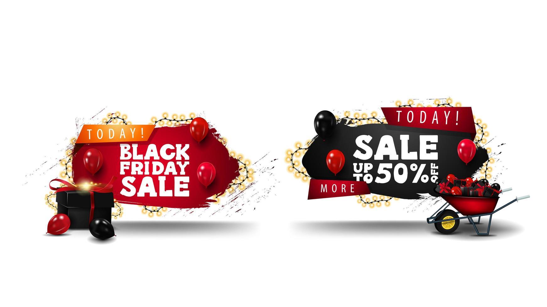 Special offer, Black Friday sale badges vector