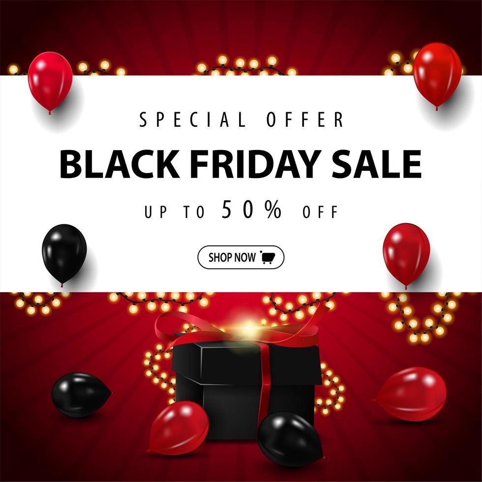 Special offer, Black Friday Sale vector