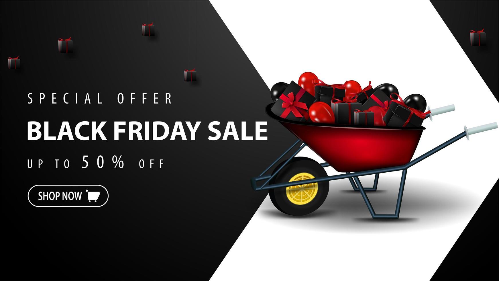 oferta especial, plantilla de venta de viernes negro vector