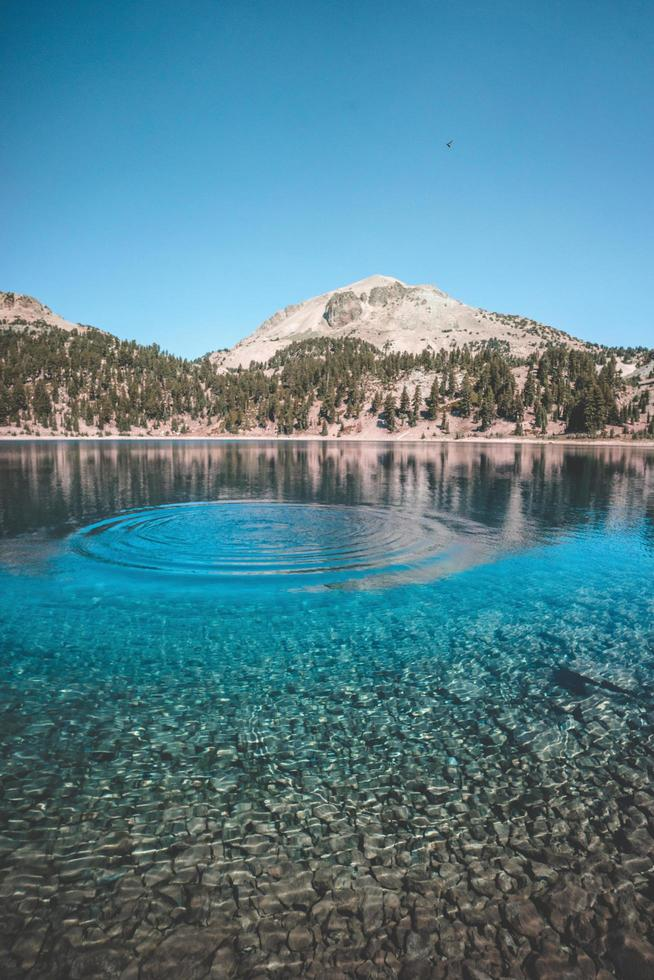 A ripple in glacial mountain water photo