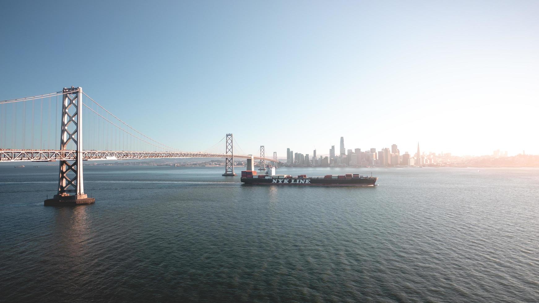 San Fransisco, CA 2018-Nyk container ship charters bay waters photo