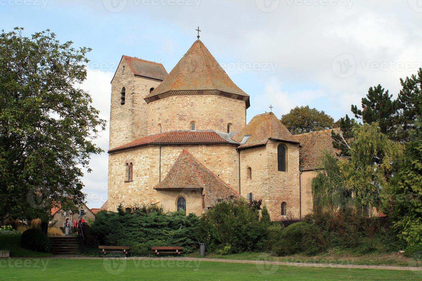 Octagonal church in Alsace photo