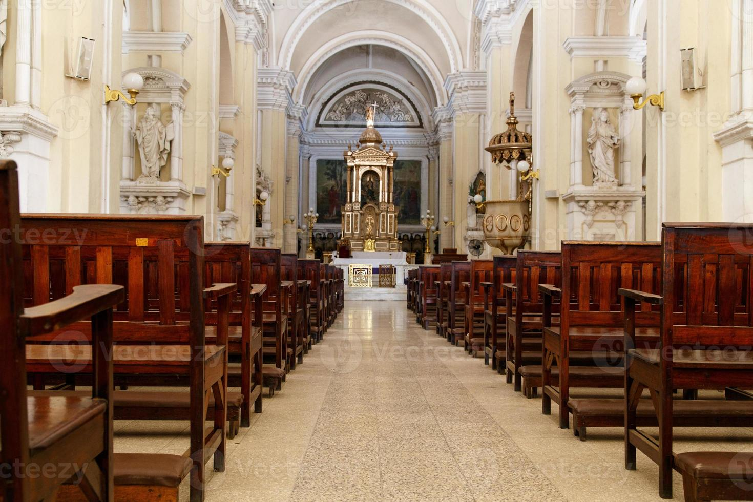 indoors of Cathedral  in Leon, Nicaragua photo