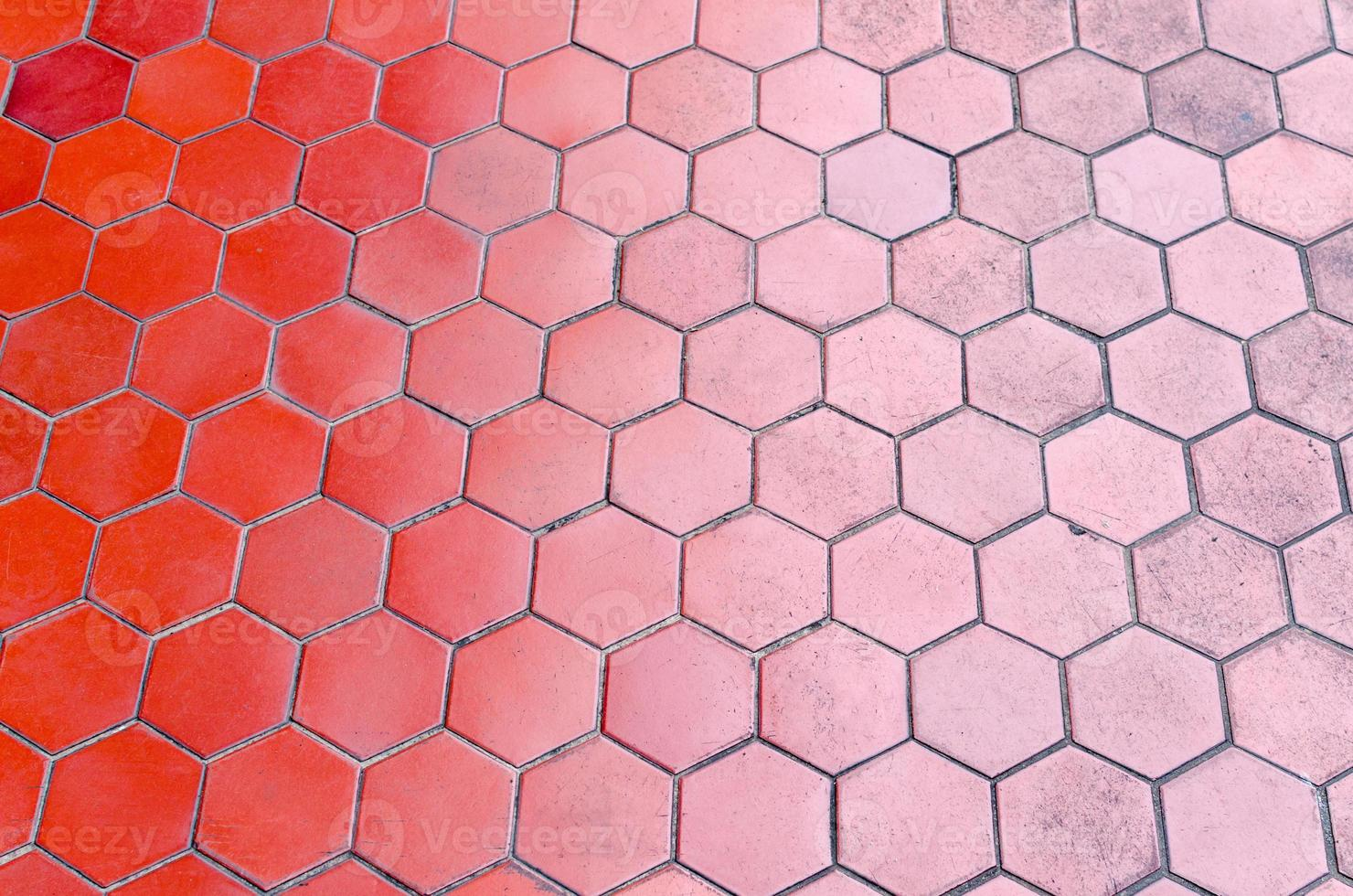 red tile floor gradient two tone photo