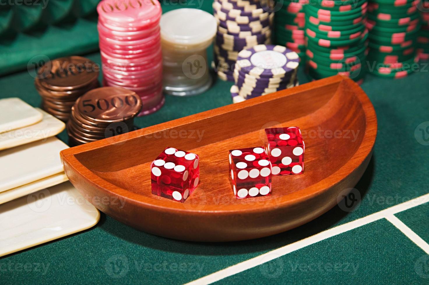 Casino gambling accessories photo
