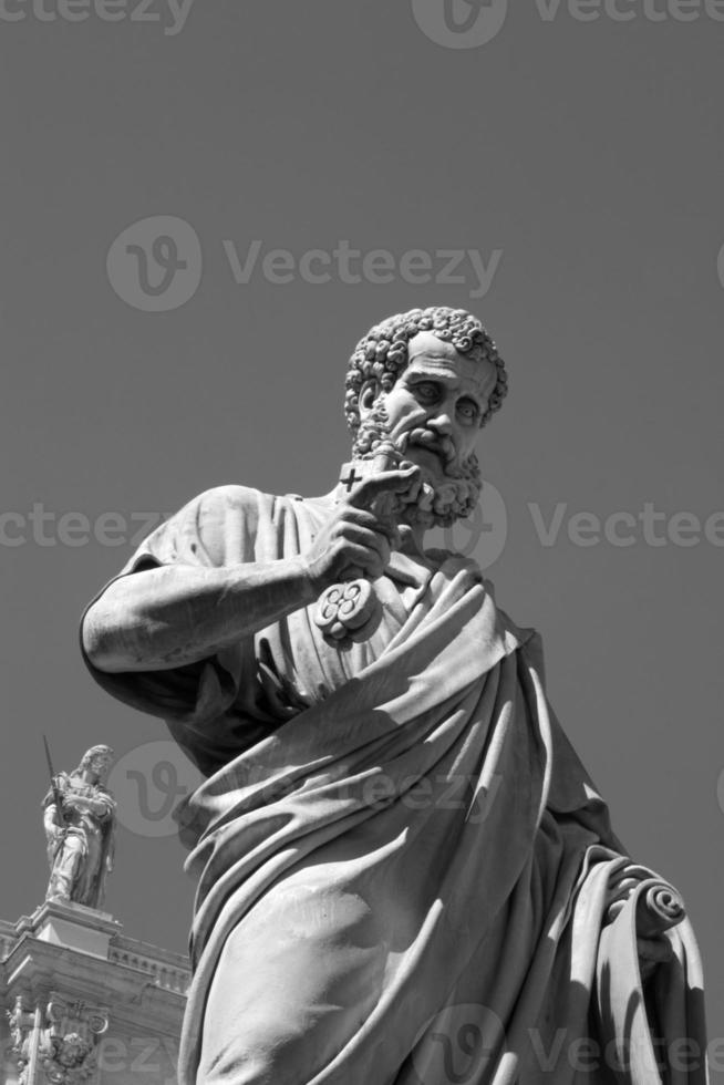 holy Peter statue in Vatican photo